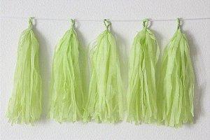 Varal de Franja Tassel Verde Claro - 15 peças