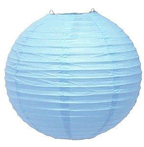 Luminária Japonesa Azul Claro - 35 cm