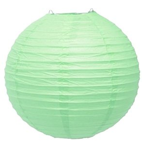 Luminária Japonesa Verde Claro - 35 cm