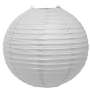 Luminária Japonesa Branca  35 cm