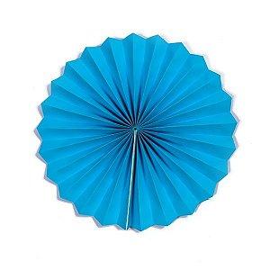 Margarida Leque de Papel Pregueada Azul - 20 cm