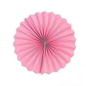 Margarida Leque de Papel Pregueada Rosa - 20 cm