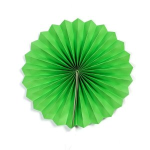 Margarida Leque de Papel Pregueada Verde  - 30 cm