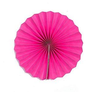 Margarida Leque de Papel Pregueada Pink - 40 cm