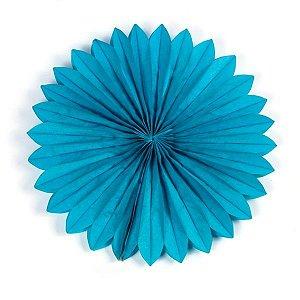 Margarida Leque de Papel Sunny Azul - 30 cm