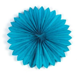 Margarida Leque de Papel Sunny Azul - 40 cm