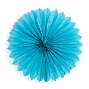 Margarida Leque de Papel Sunny Azul Claro - 40 cm