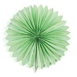 Margarida Leque de Papel Sunny Verde Claro - 40cm