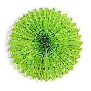 Margarida Leque de Papel Decorativa Verde - 50 cm