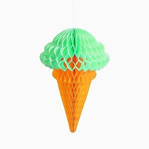 Sorvete Colmeia de Papel Verde - 32 cm