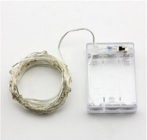 Luzinhas de Fada Branco - 2 Metros - 20 LEDS