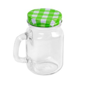 Mini Mason Jar Verde - 130 ml - 1 Unidade