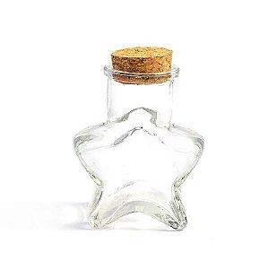 Garrafinha de Vidro Estrela com Rolha - 60 ml - 1 Unidade
