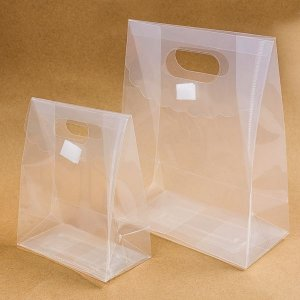 Caixa Sacolinha Trapézio Transparente - 12 Unidades