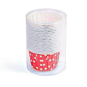Potinho de Papel Poá Vermelho - 20 peças