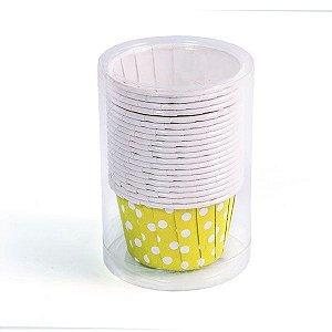 Potinho de Papel Poá  Amarelo - 20 peças