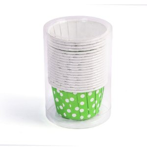 Potinho de Papel Poá Verde - 20 peças