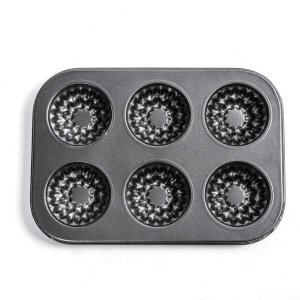 Forma para Mini Bolos Inglesa - 6 Cavidades - 1 unidade