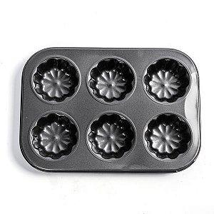 Forma para Mini Bolos Fleur - 6 Cavidades - 1 unidade