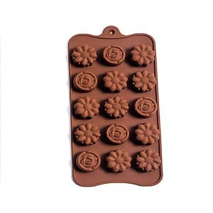 Forma Silicone para Chocolate Mix Flowers - 1 Unidade