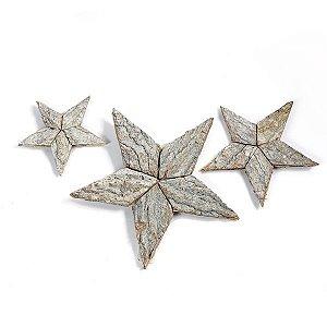 Estrela Madeira Natural - 20 cm - 1 Unidade