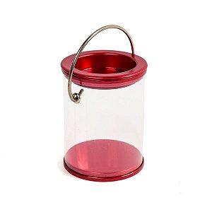 Latinha de Tinta Transparente Vermelho Metalizado - 12 unidades