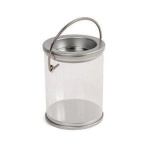 Latinha de Tinta Transparente Prata - 12 unidades