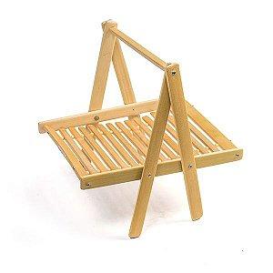 Suporte de Bambu Decorativo - 25x20x24cm - 1 Unidade