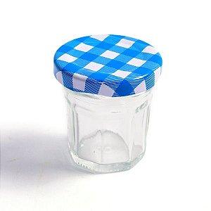 Potinho de Vidro Jelly Azul - 30 ml - 1 Unidade