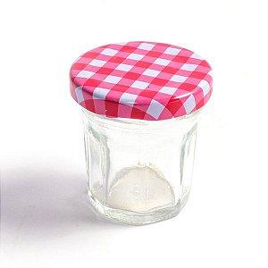 Potinho de Vidro Jelly Vermelho - 30 ml - 1 Unidade
