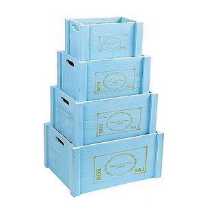 Caixote Chavy Chic Aqua - Kit 2
