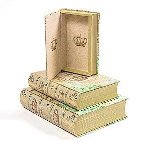 Caixa Livro London Chic - Kit com 3 peças
