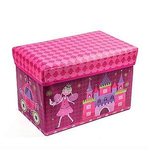 Baú Kids Castelo de Princesa -  59x35x29,5 cm - 1 Unidade