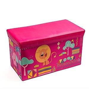 Baú Kids Leaozinho Pink -   59x35x29,5 cm - 1 Unidade