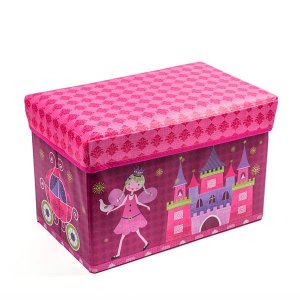 Baú Kids Castelo Princesa -  43x28x28 cm - 1 Unidade