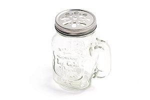 Mason Jar Original com Tampa Prata  - 400 ml - 1 Unidade