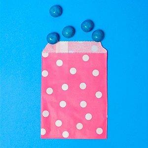 Saquinho de Papel Poá Pink - Kit com 10 Unidades