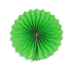 Margarida Leque de Papel Pregueada Verde  - 40 cm