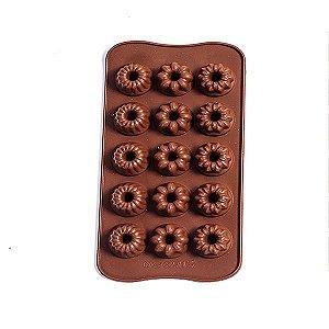 Forma Silicone para Chocolate Mini Bolo - 1 Unidade