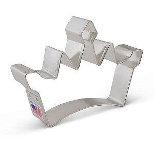 Cortador de Biscoito Coroa Princesa Grande - 1 Unidade