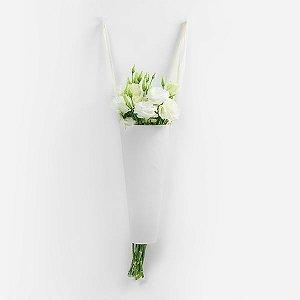 Suporte com Alças para Flores Branco - 1 Unidade