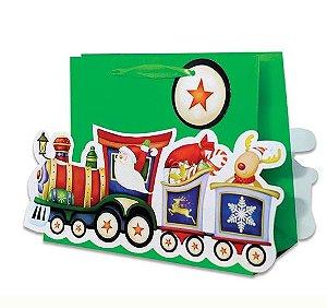 Sacola Trenzinho Natal