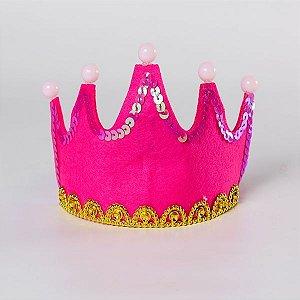 Coroa  de Festa Princesa Pink - 1 Unidade