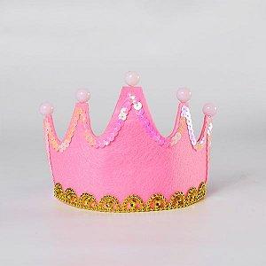 Coroa  de Festa Princesa Rosa - 1 Unidade