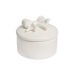 Caixa de Porcelana Redonda - Laço