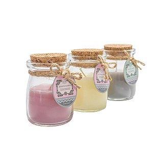 Vela Aromática Vidrinhos Sweet - Kit com Mix de 12 Velas