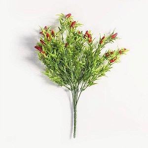 Pimenta Vermelha com Folhagens - 35cm