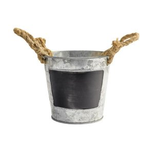 Vaso de Metal com Louza de Giz - 11,5cm