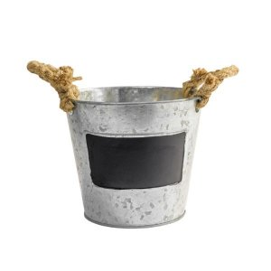 Vaso de Metal com Lousa de Giz - 14,5cm