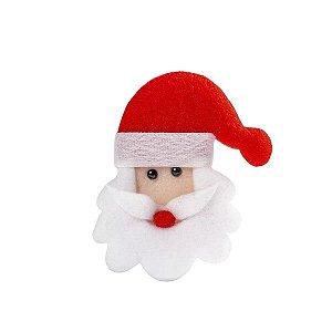 Aplique Papai Noel com Barba - Pacote com 10 unidades